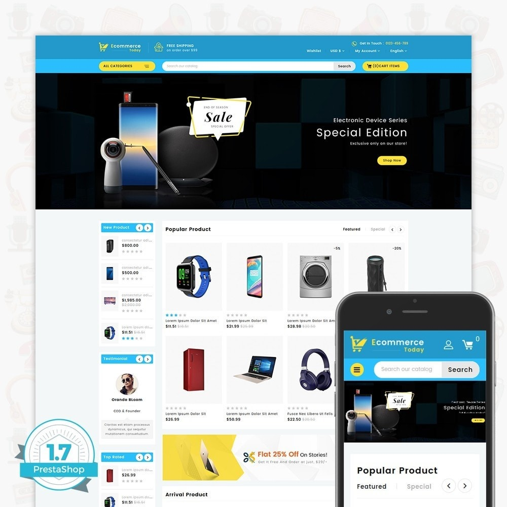 theme - Electronique & High Tech - Ecommerce-Today- Electronics Store - 1