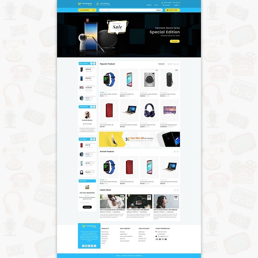 theme - Electronique & High Tech - Ecommerce-Today- Electronics Store - 2