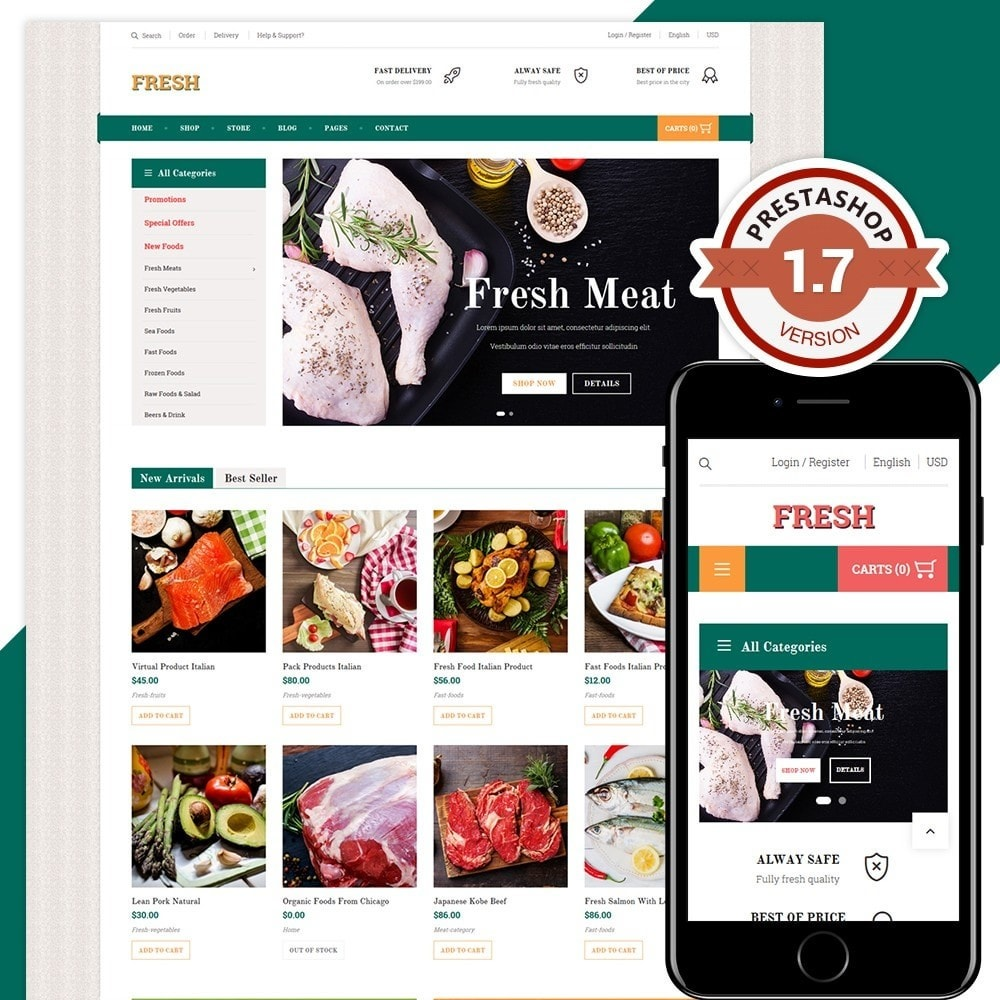 theme - Alimentation & Restauration - Fresh Store II - 1