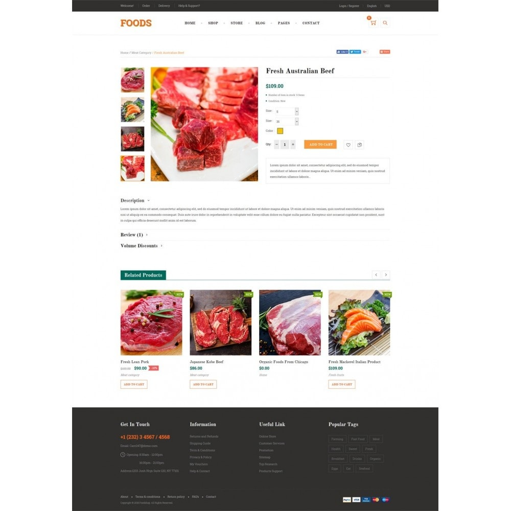 theme - Żywność & Restauracje - Food Shop II - 9