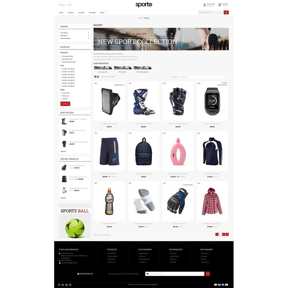 theme - Sports, Activities & Travel - Sporto Demo Store - 3
