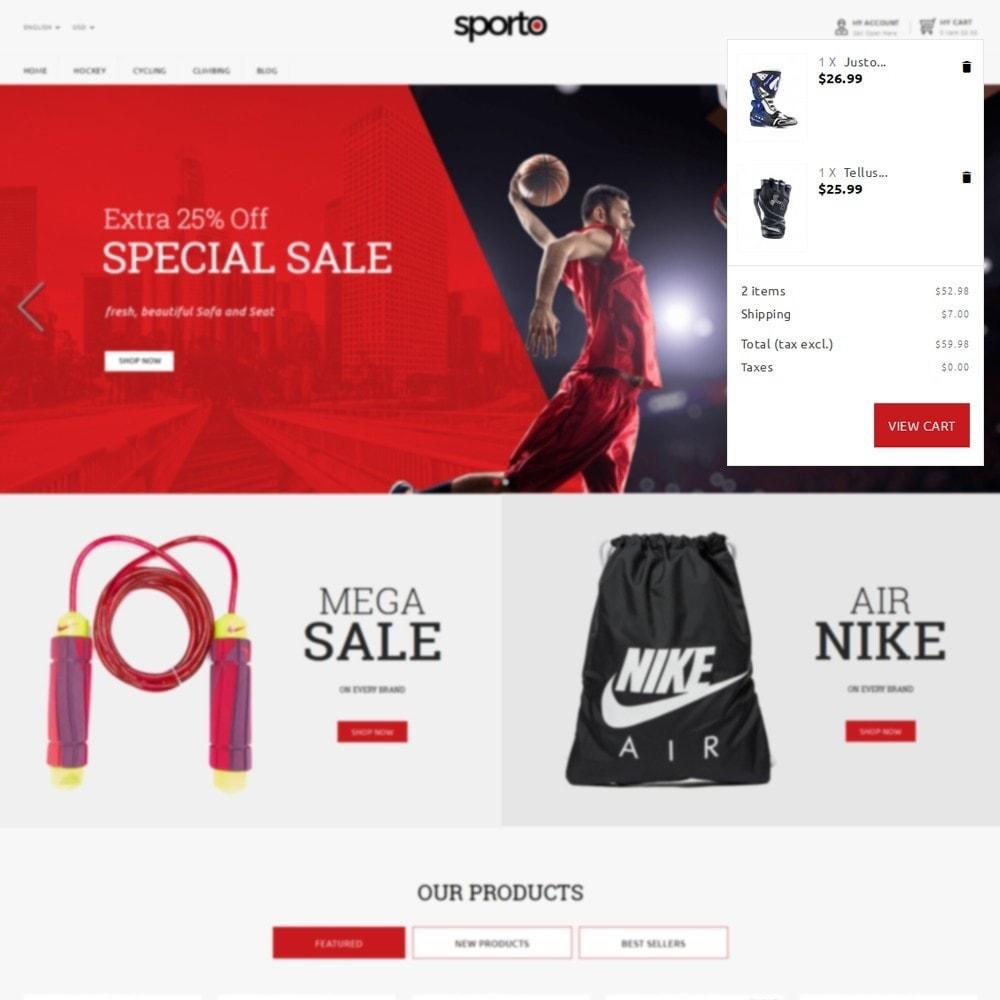 theme - Sport, Attività & Viaggi - Sporto Demo Store - 6