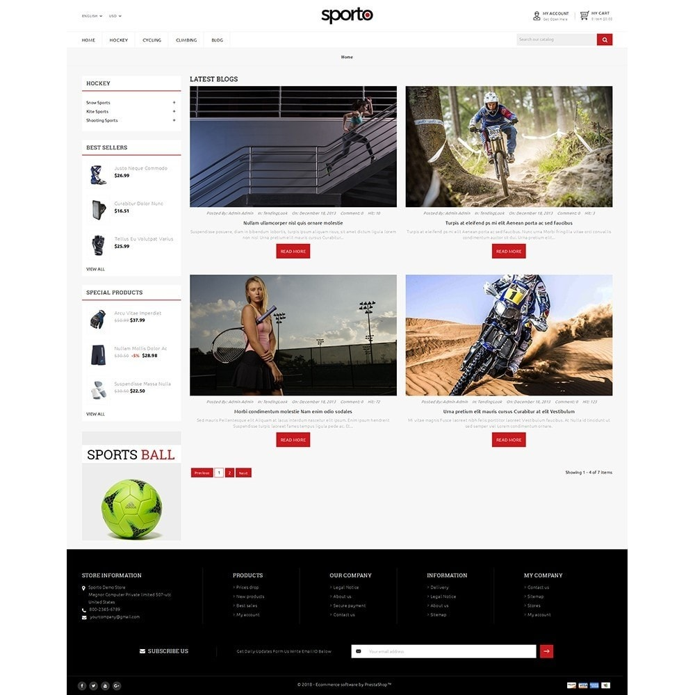 theme - Sports, Activities & Travel - Sporto Demo Store - 8