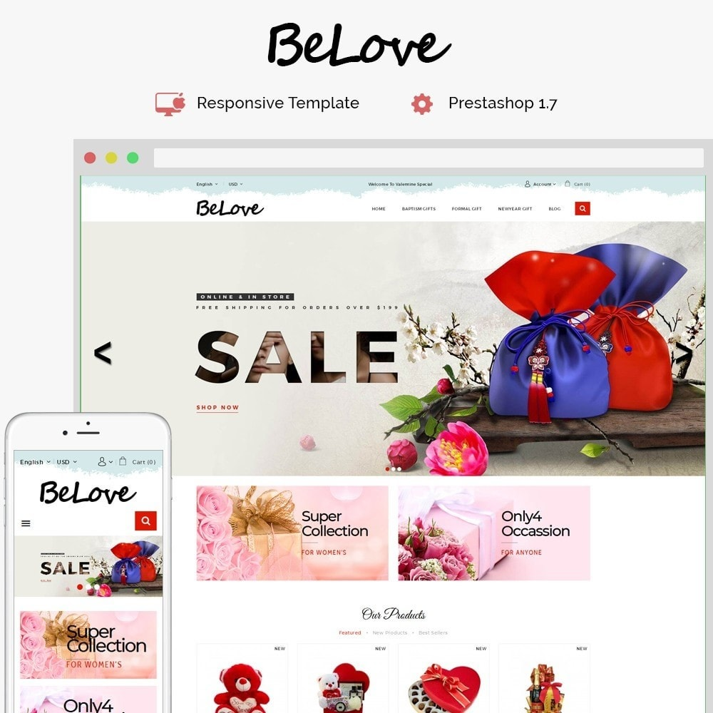 theme - Gifts, Flowers & Celebrations - Belove Gift Store - 1