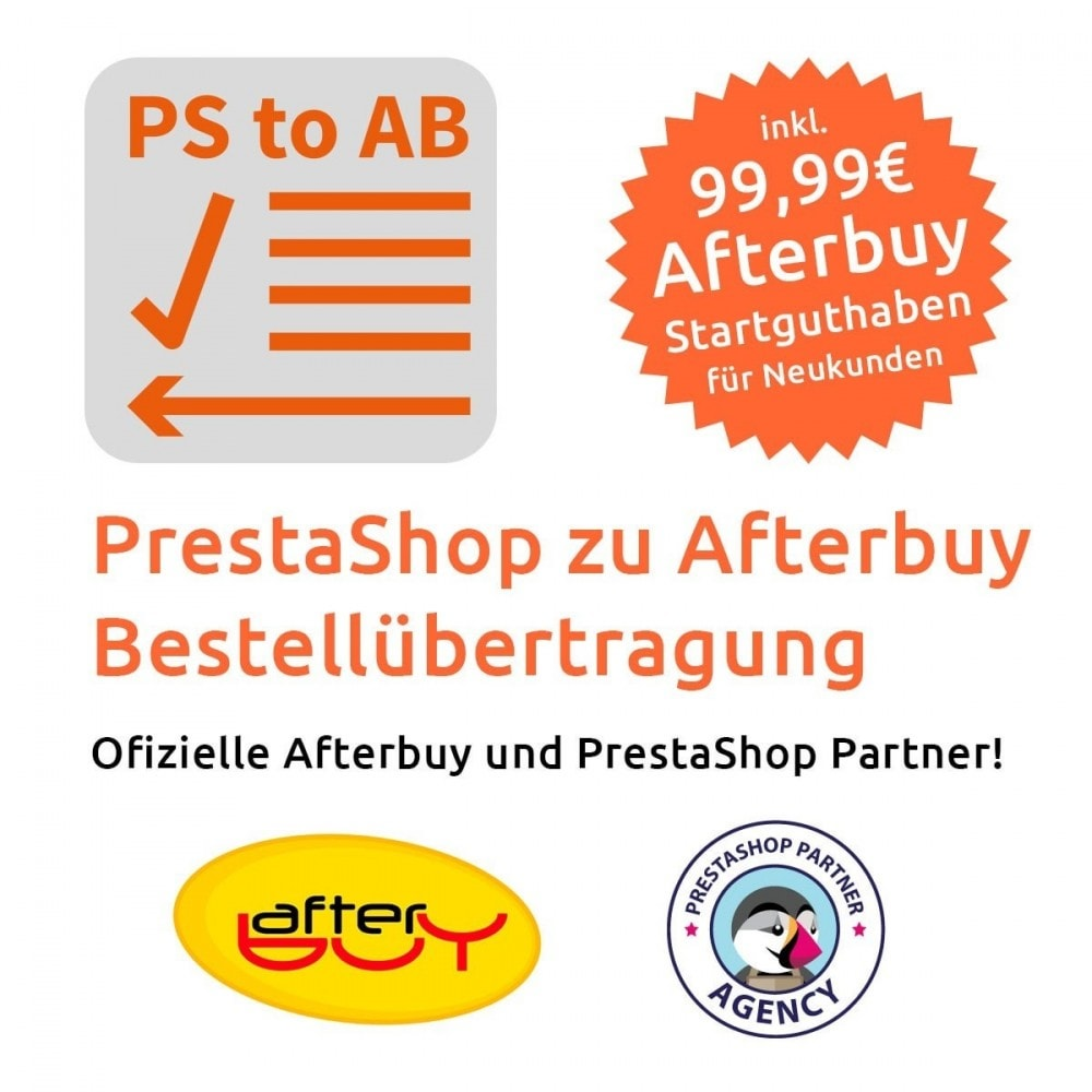 module - Third-party Data Integration (CRM, ERP...) - PrestaShop to Afterbuy order transmission - 1