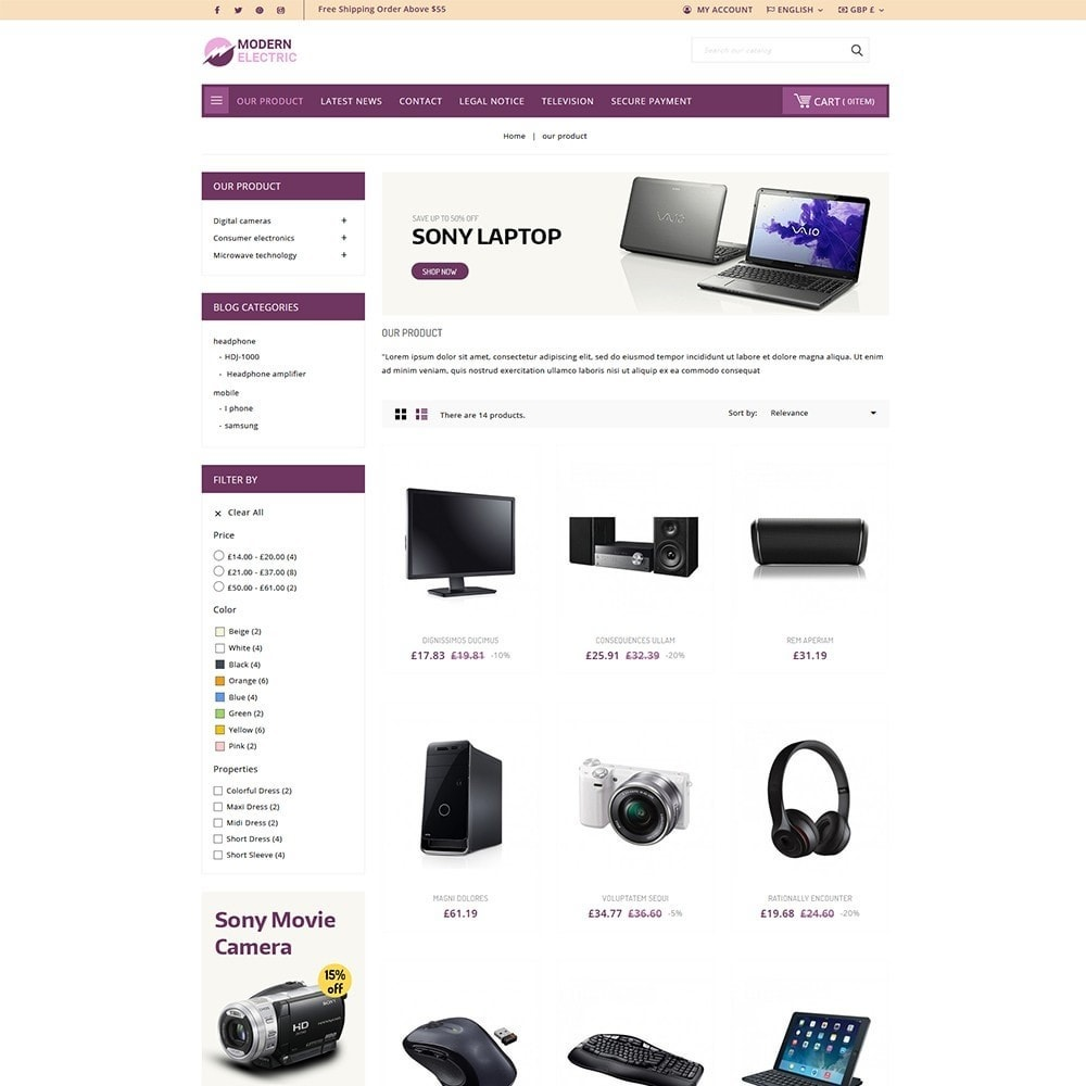 theme - Elettronica & High Tech - Modern Electric - Electronics Store - 4