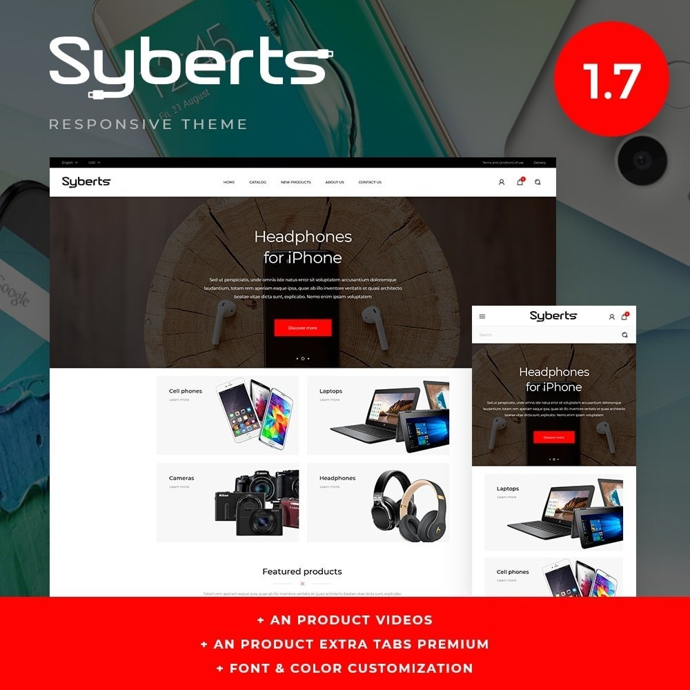 theme - Электроника и компьютеры - Syberts - High-tech Shop - 1