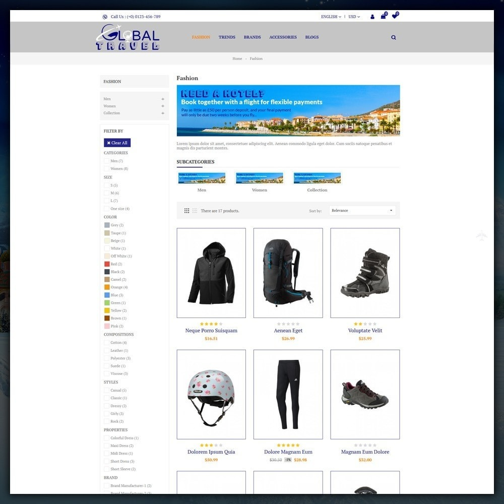 theme - Sports, Activities & Travel - Travel Store - 3
