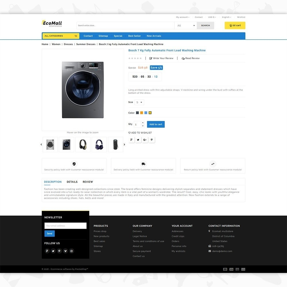 theme - Elettronica & High Tech - EcoMall - The Mega Ecommerce Store - 5