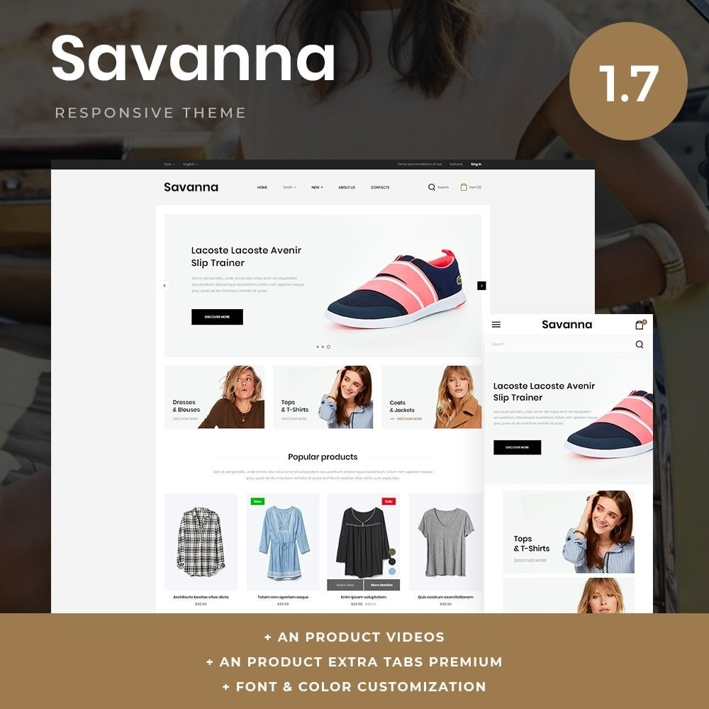theme - Мода и обувь - Savanna Fashion Store - 1