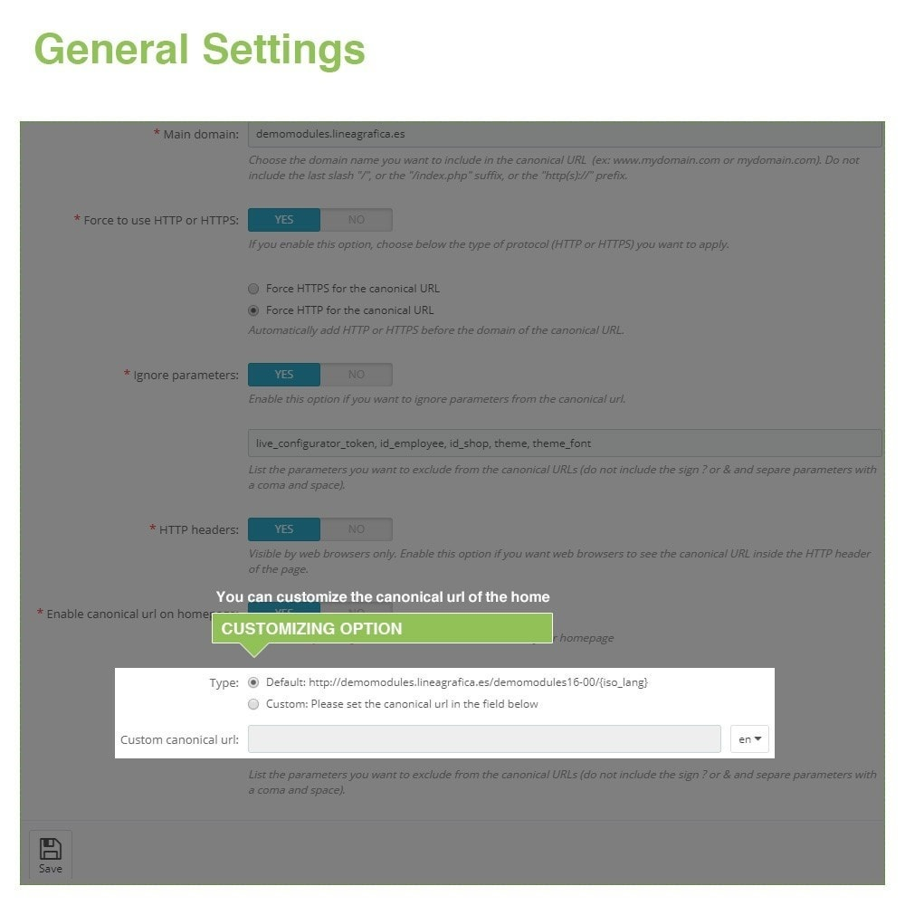 module - URL & Przekierowania - Canonical SEO URLs to Avoid Duplicate Content - 7