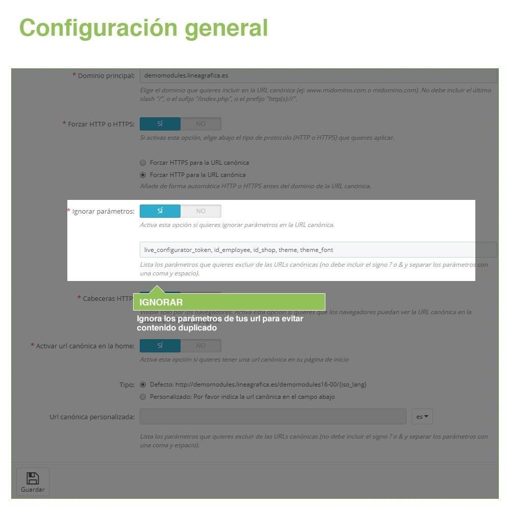 module - URL y Redirecciones - Canonical SEO URLs para Evitar Contenido Duplicado - 4