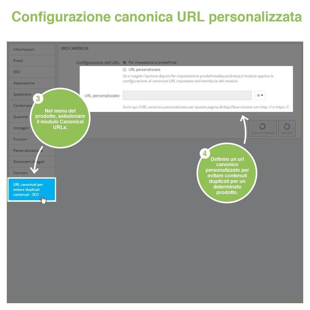 module - URL & Redirect - URL canonici per evitare duplicati contenuti - SEO - 11