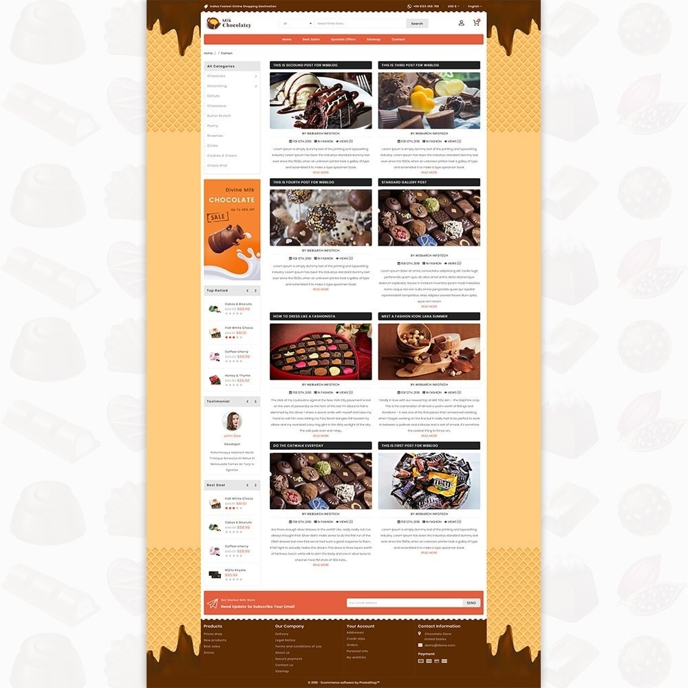 theme - Lebensmittel & Restaurants - Milk Chocolaty - 6