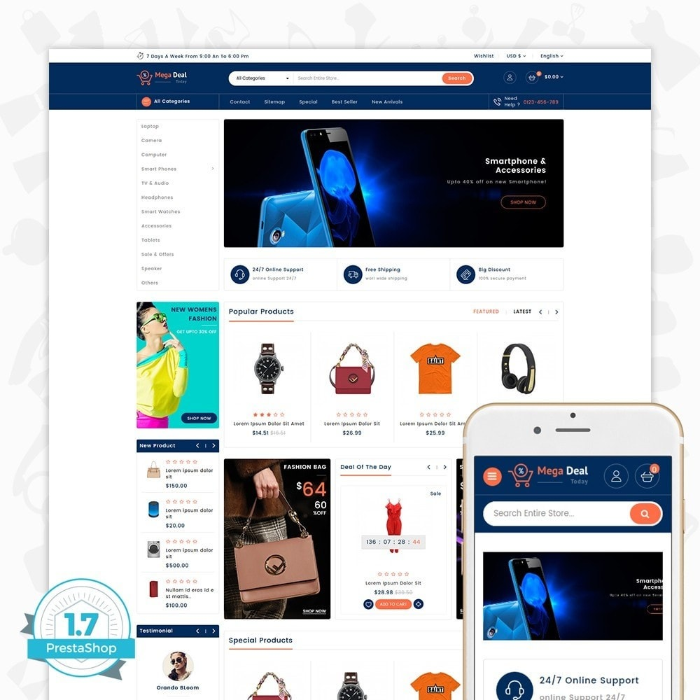 theme - Eletrônicos & High Tech - MegaDeal - Ecommerce Shop - 1
