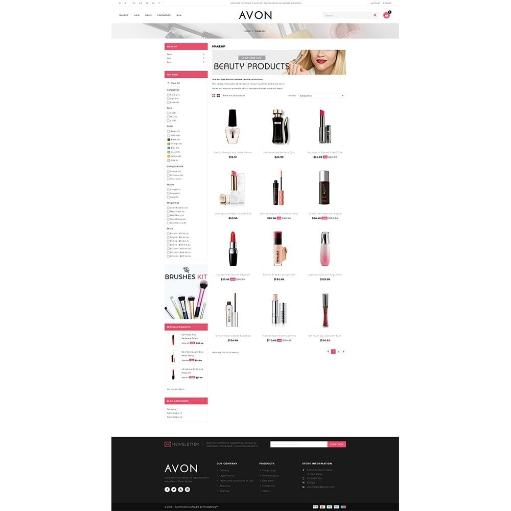 theme - Health & Beauty - AVON Cosmetic Store - 3