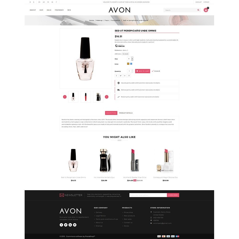 theme - Health & Beauty - AVON Cosmetic Store - 5
