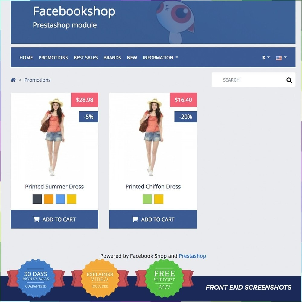 module - Products on Facebook & Social Networks - Social Network Shop PRO - 3