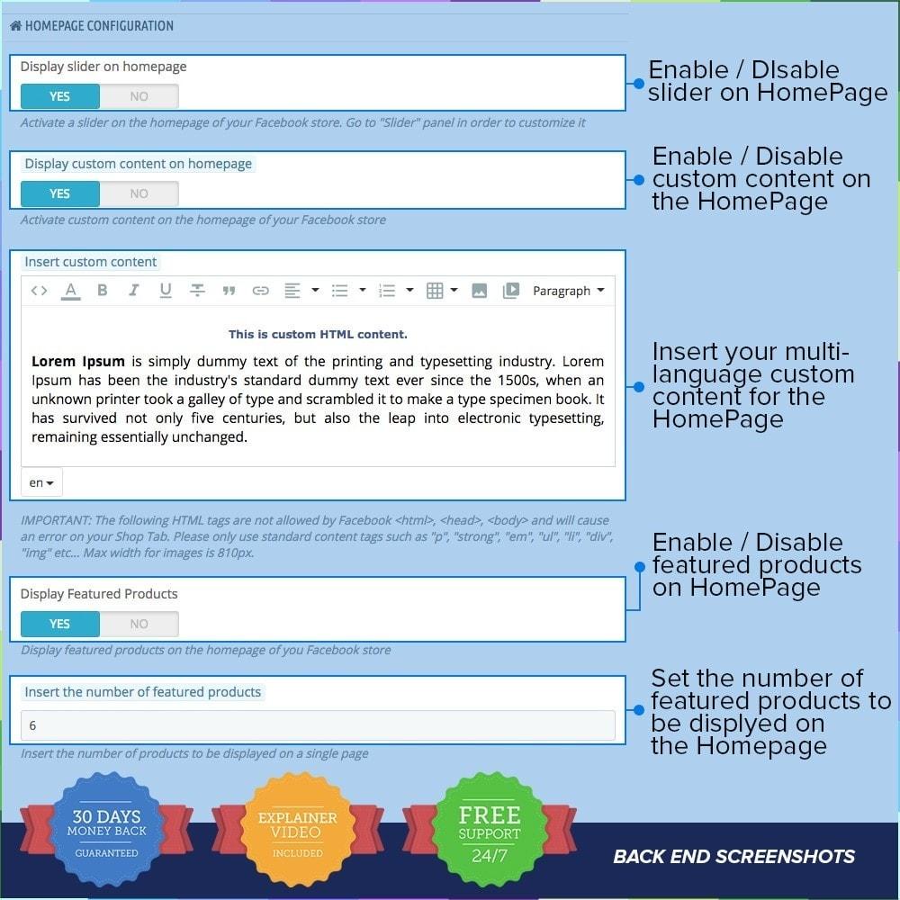 module - Produits sur Facebook & réseaux sociaux - Social Network Shop PRO - 9