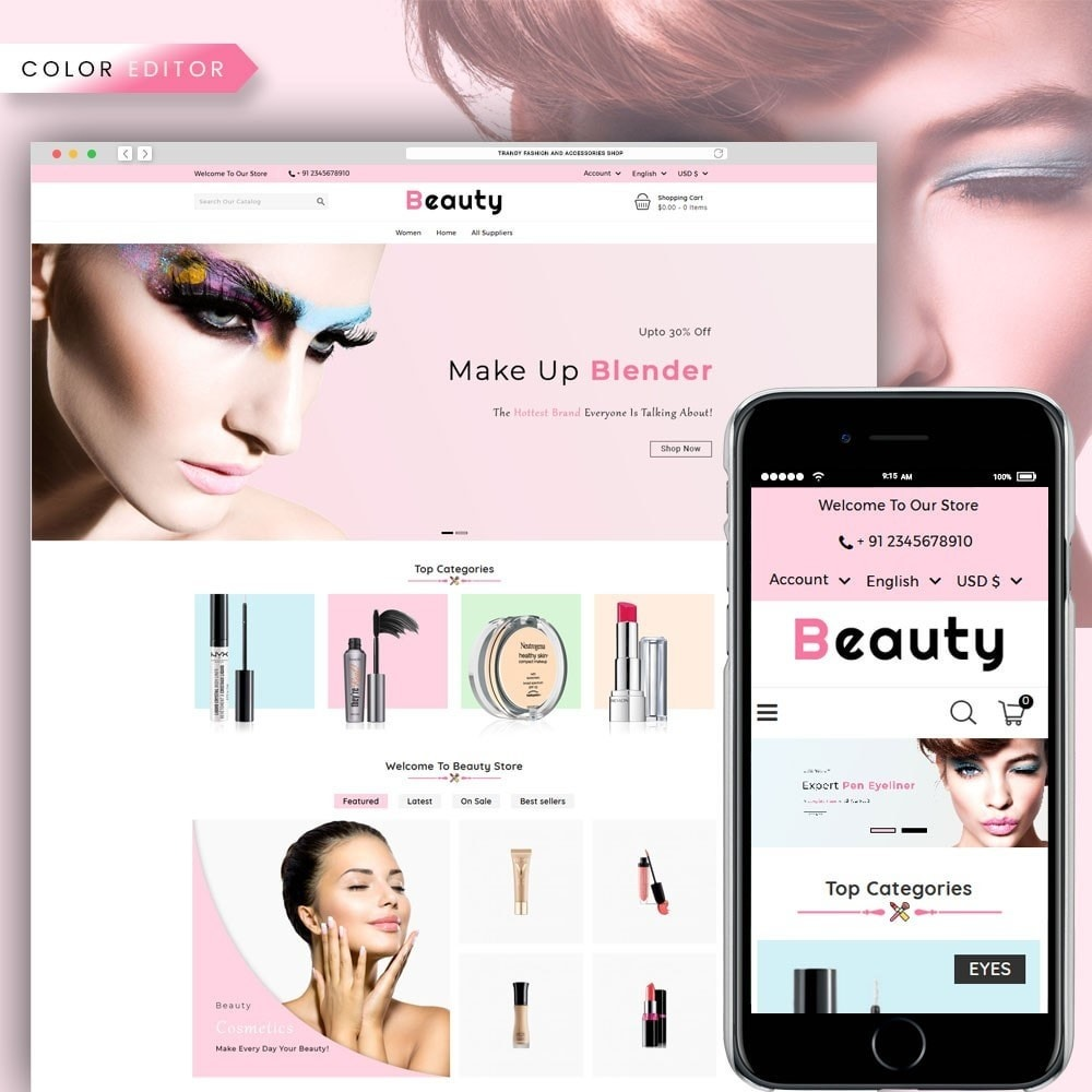 theme - Salud y Belleza - Beauty Cosmetic Shop - 1