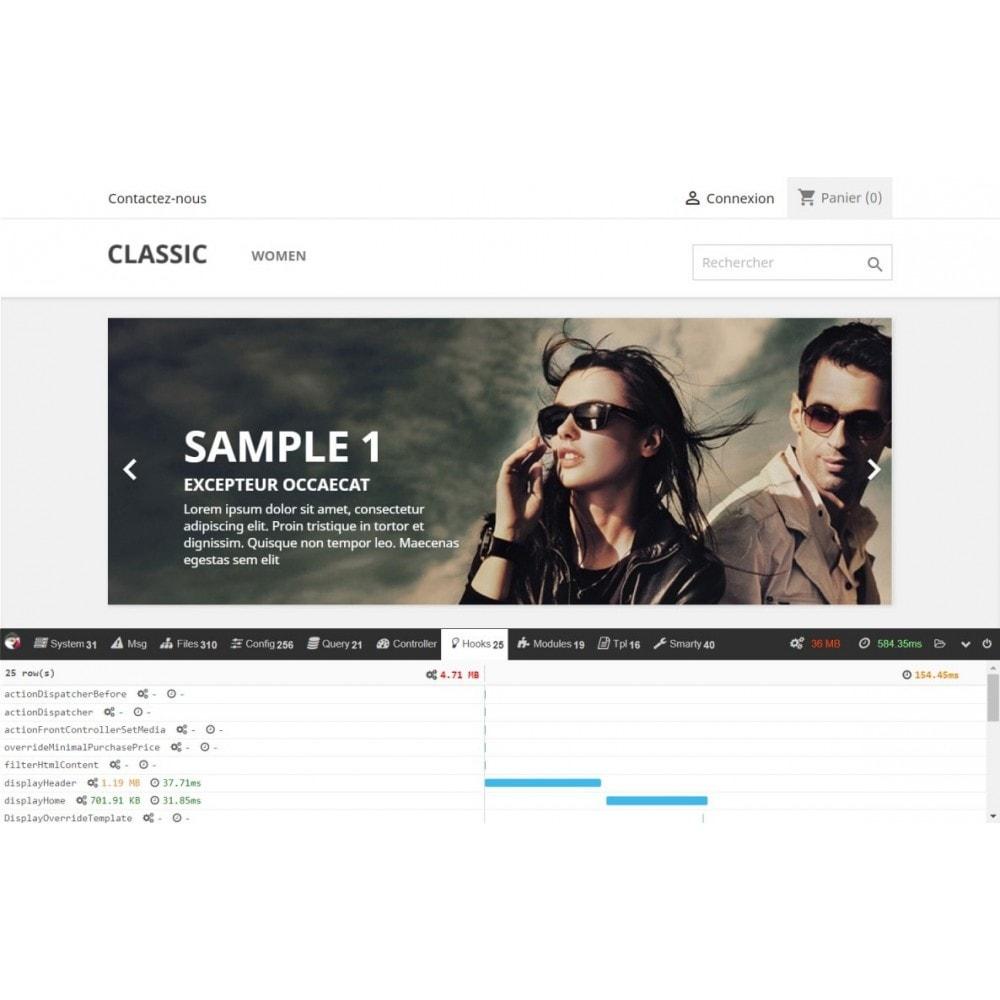 module - Performance du Site - PrestaShop debug toolbar - 1