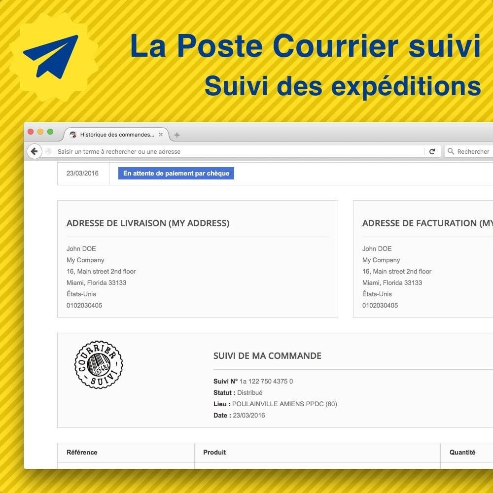 module - Suivi de livraison - Suivi des expéditions La Poste, Colissimo, Chronopost - 1