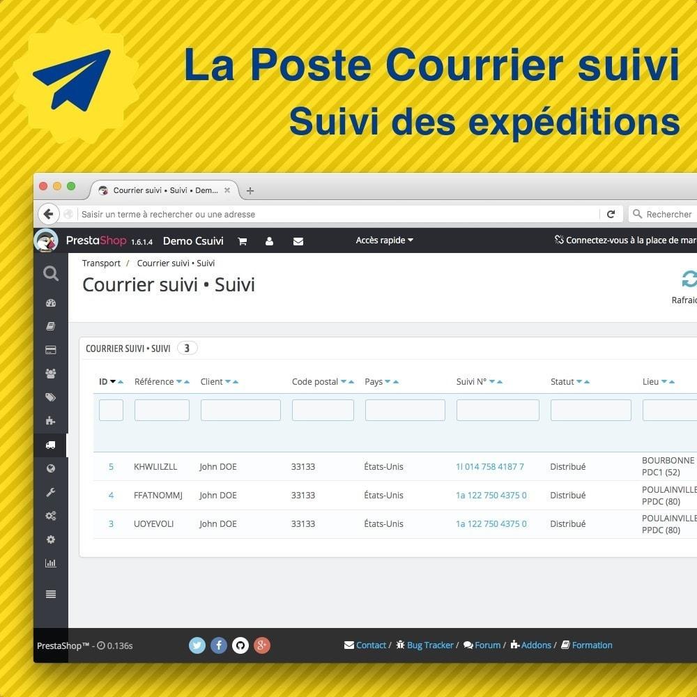 module - Suivi de livraison - Suivi des expéditions La Poste, Colissimo, Chronopost - 3