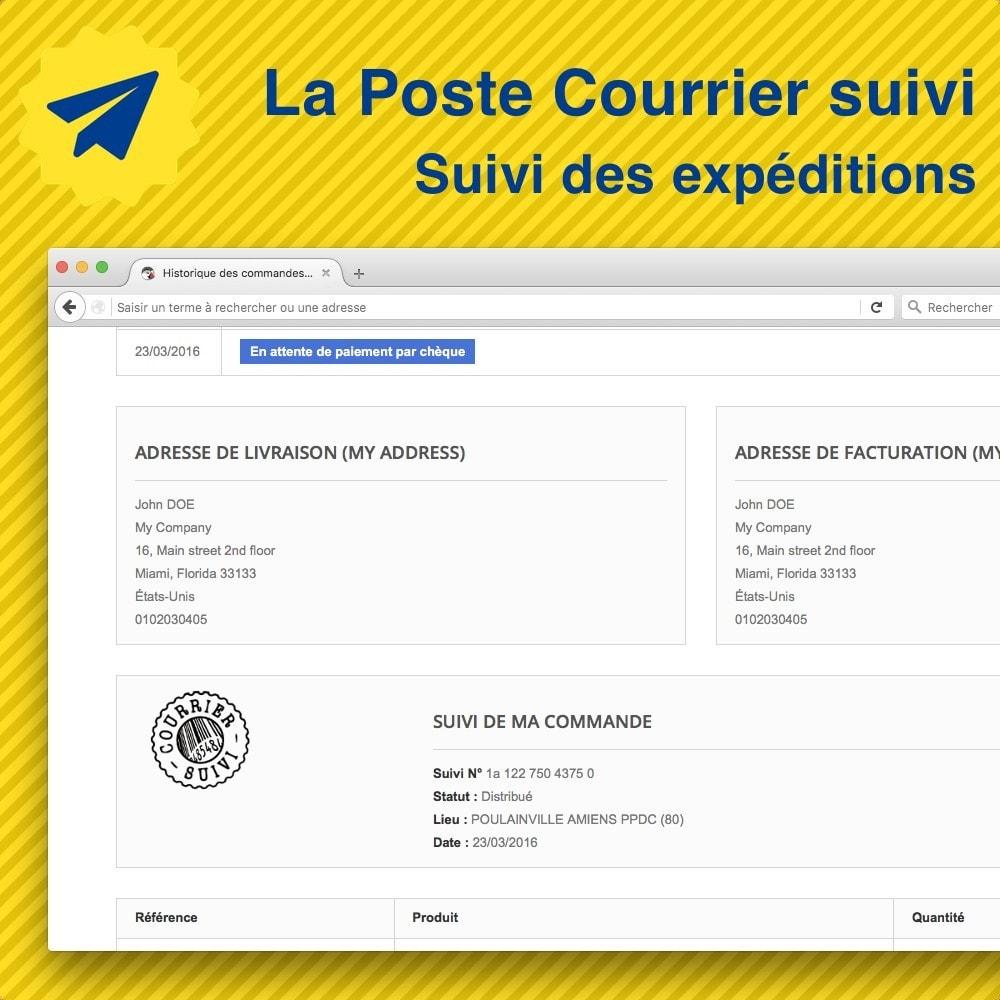module - Отслеживание заказа - Suivi des expéditions La Poste, Colissimo, Chronopost - 1