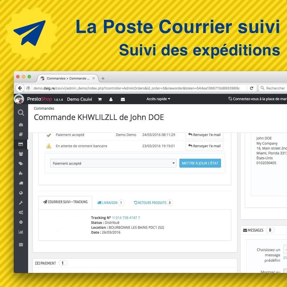 module - Suivi de livraison - Suivi des expéditions La Poste, Colissimo, Chronopost - 2