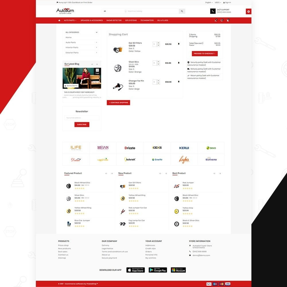 theme - Autos & Motorräder - AutoBurn – AutoPart and Tool Super Store v3 - 5