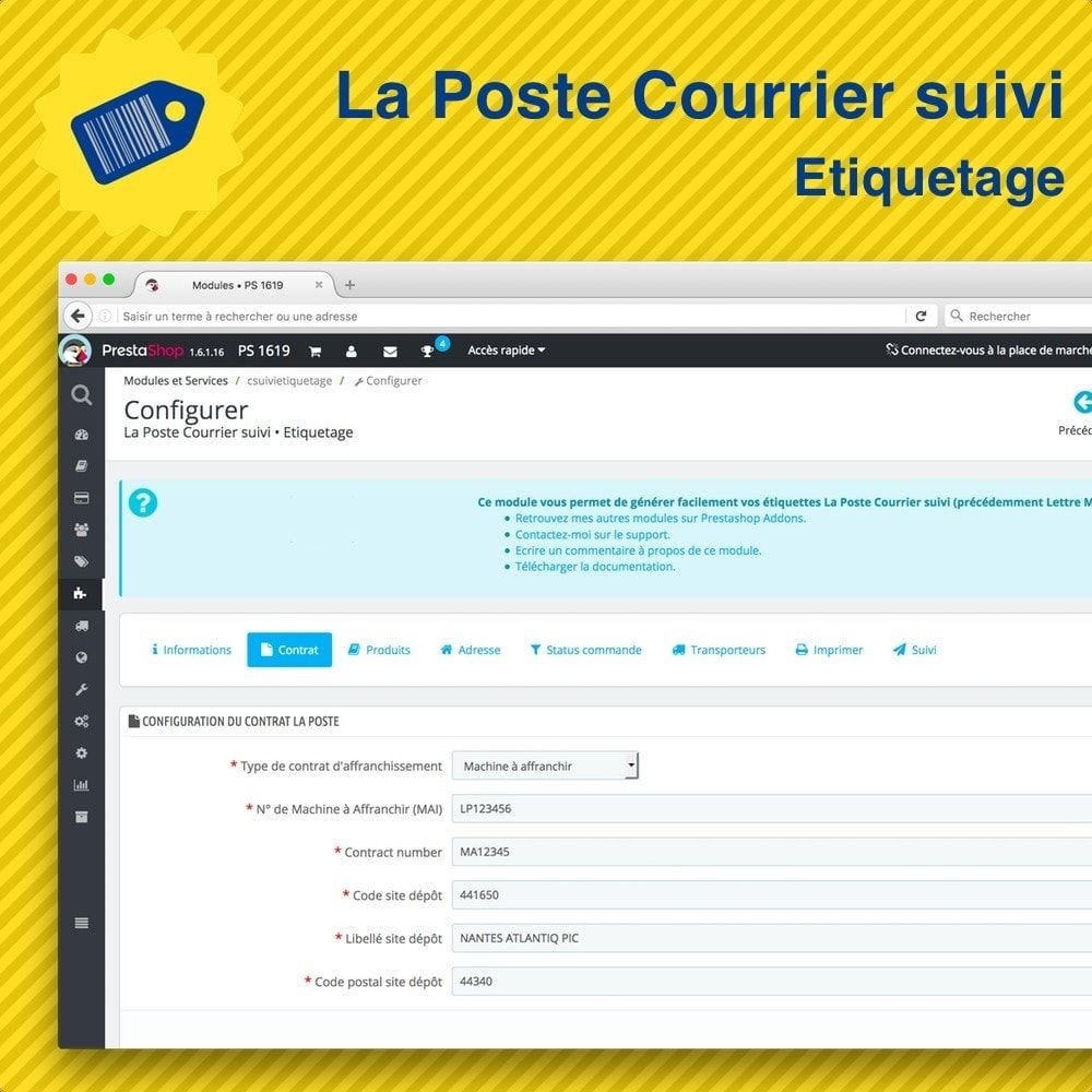 module - Preparation & Shipping - La Poste Courrier suivi • Etiquetage - 2