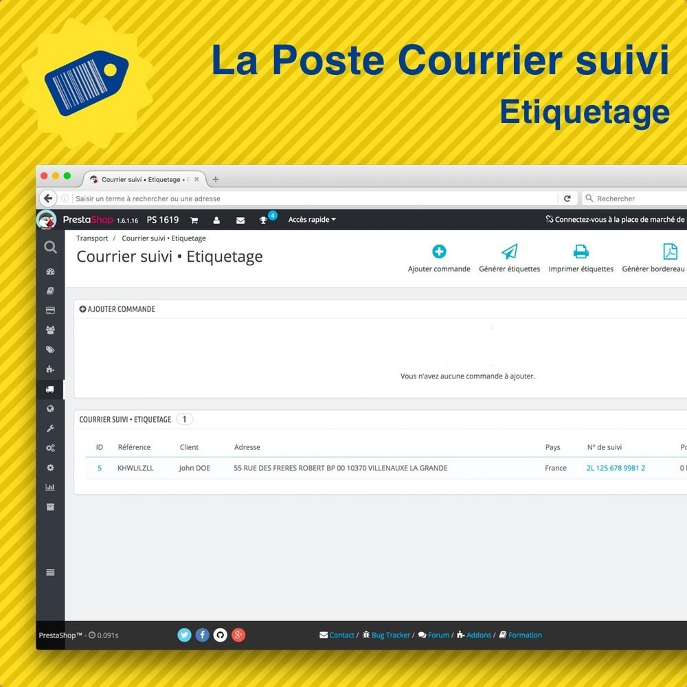 module - Preparation & Shipping - La Poste Courrier suivi • Etiquetage - 3