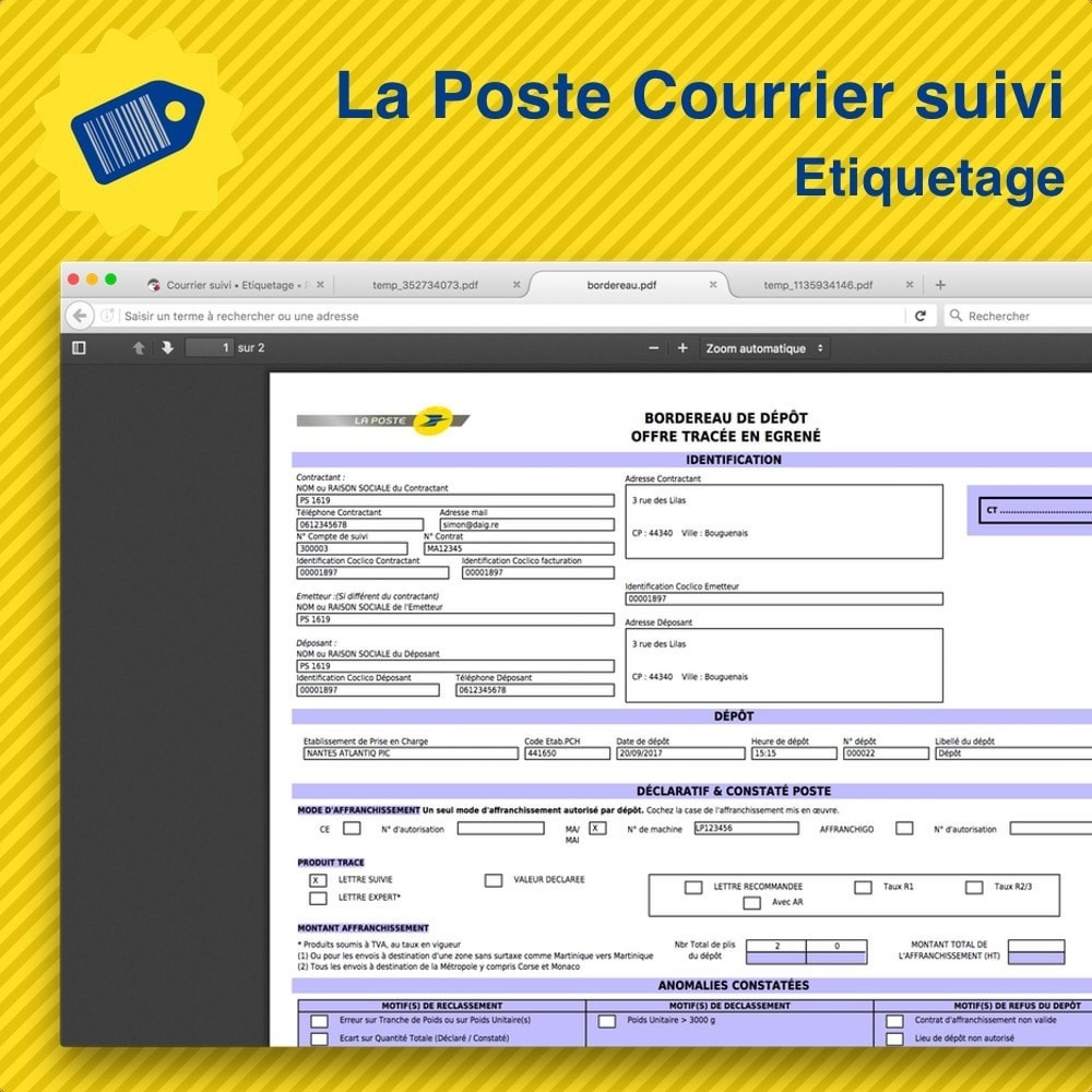module - Preparation & Shipping - La Poste Courrier suivi • Etiquetage - 4