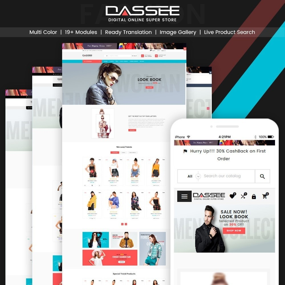 theme - Moda y Calzado - Dassee – Fashion Super Store v2 - 1