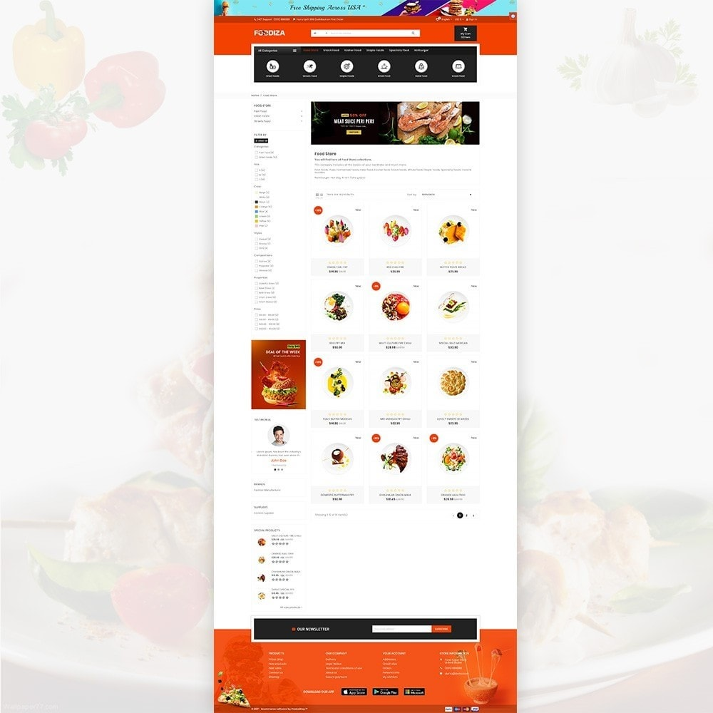 theme - Eten & Restaurant - Foodza – Fast Food Super Store - 3