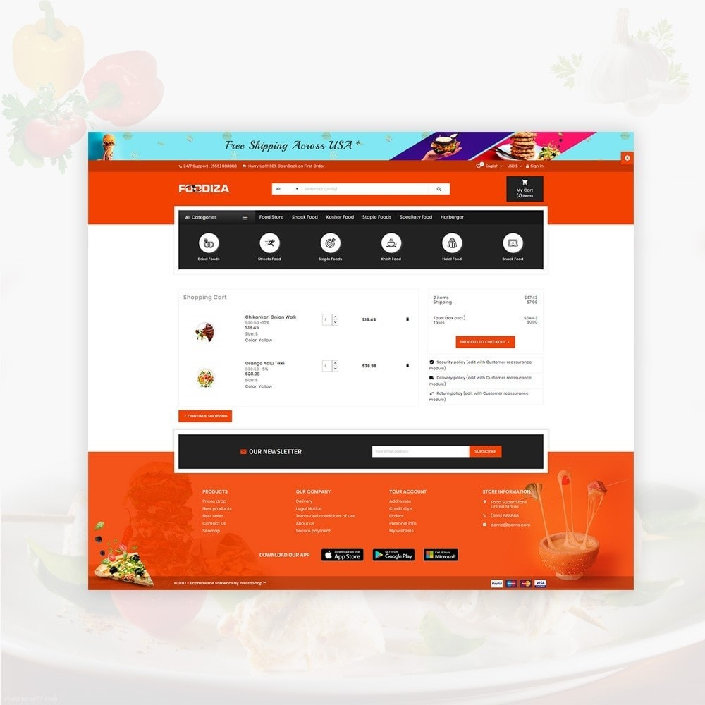 theme - Alimentos & Restaurantes - Foodza Fast Food Super Store - 6