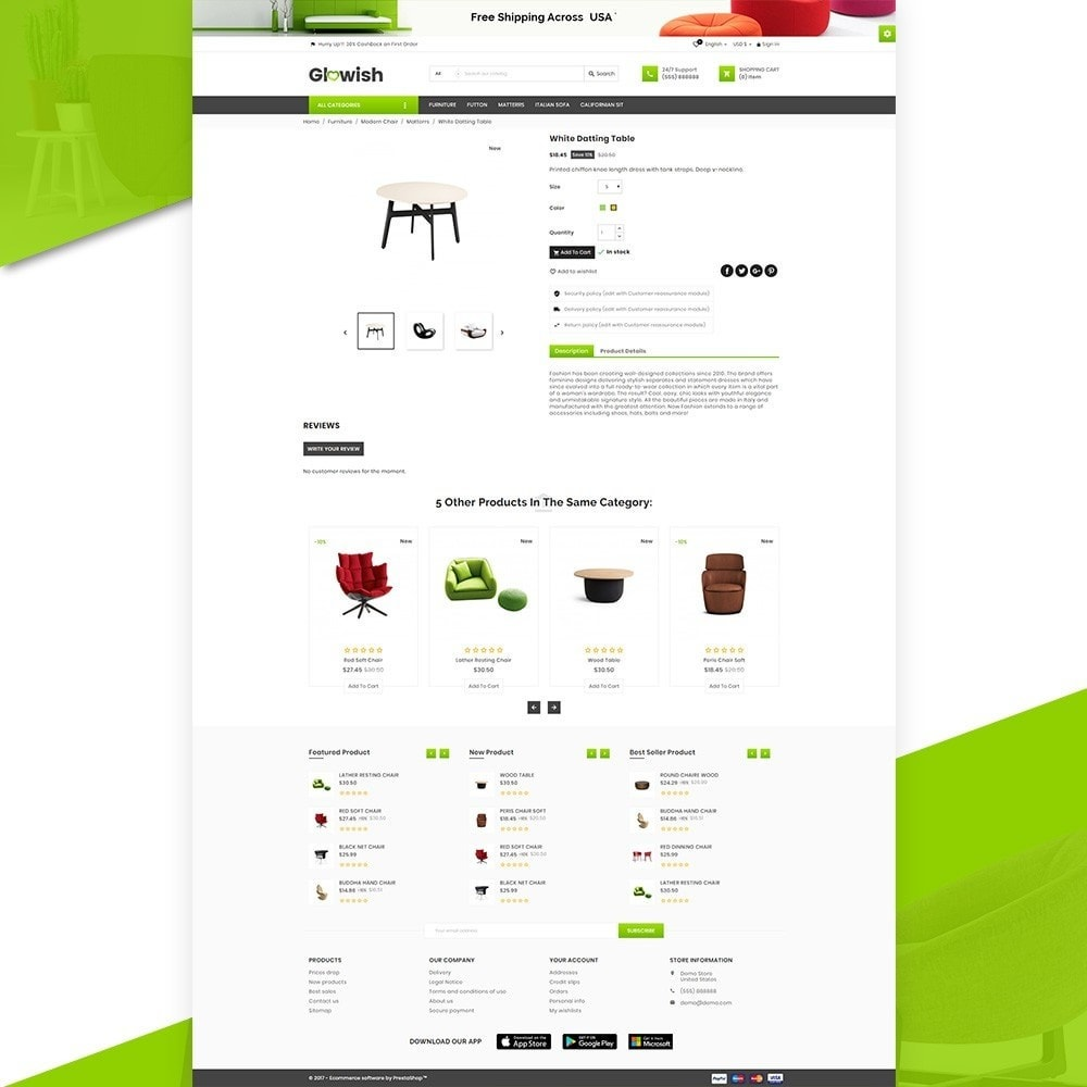 theme - Huis & Buitenleven - Glowish – Furniture Super Store v2 - 5