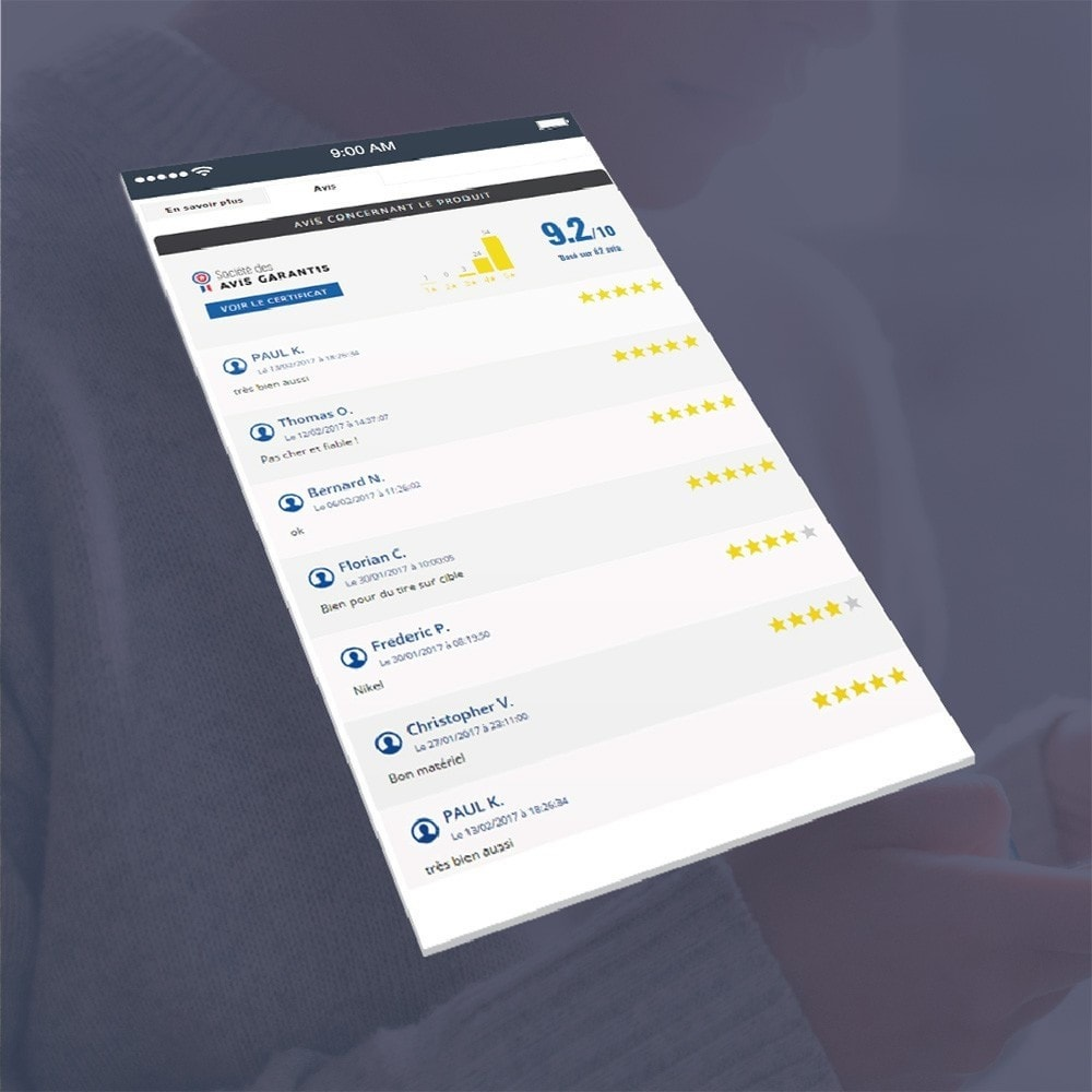 module - Klantbeoordelingen - Guaranteed Reviews Company, shop and product ratings - 5