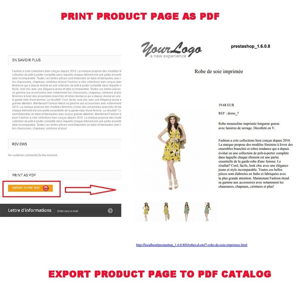 module - Import & Export de données - PRODUCT TO PDF (PRINT AS PDF) - 2