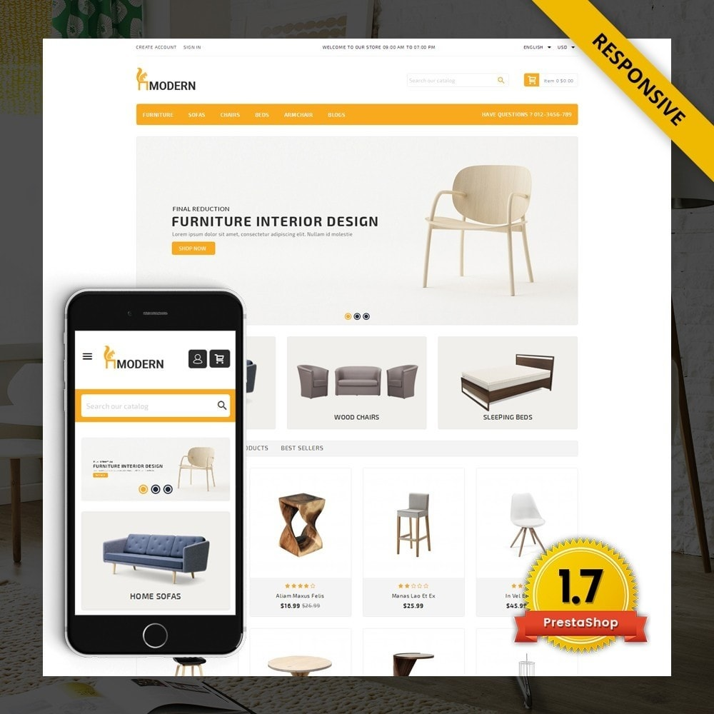 theme - Dom & Ogród - Modern  -  Furniture store - 1