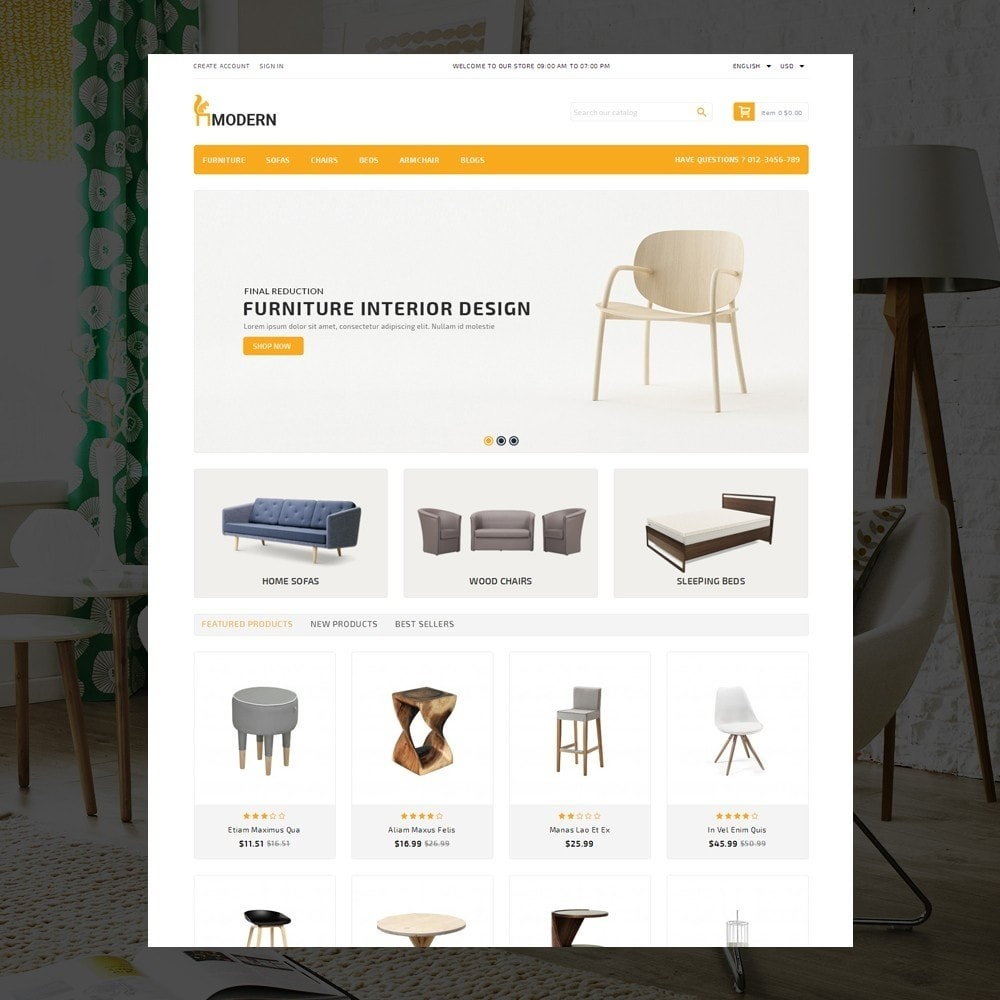 theme - Dom & Ogród - Modern  -  Furniture store - 2