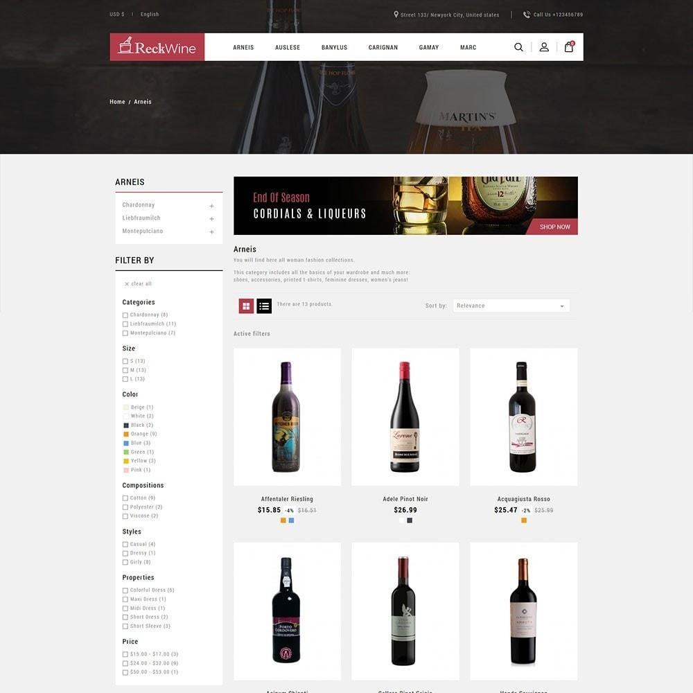 theme - Alimentation & Restauration - Recwine - Wine Store - 3