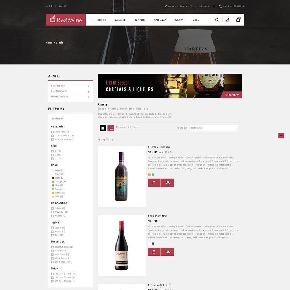 theme - Żywność & Restauracje - Recwine - Wine Store - 4