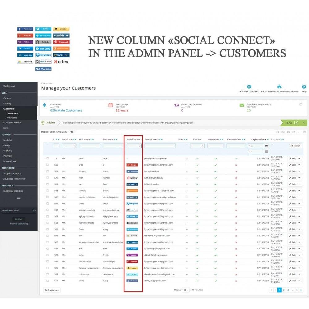 module - Boutons Login & Connect - Logins sociaux + Statistiques (19 en 1) - 23