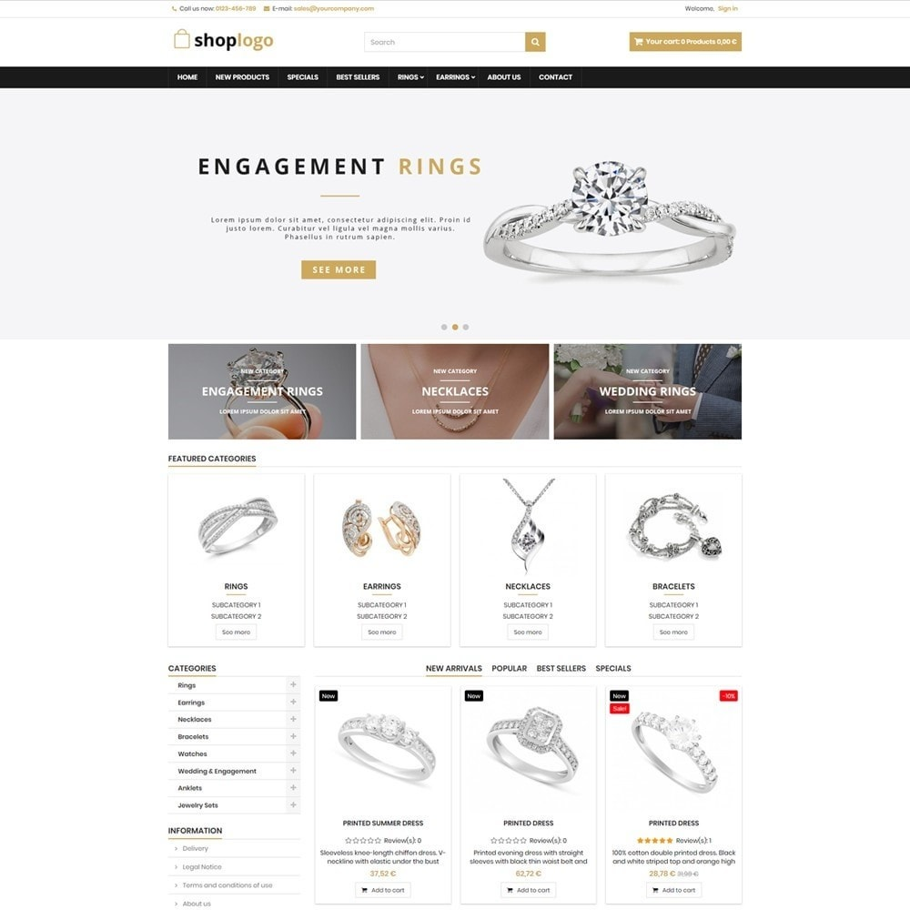 theme - Ювелирные изделия и Аксессуары - P17AT17 Jewellery store - 1