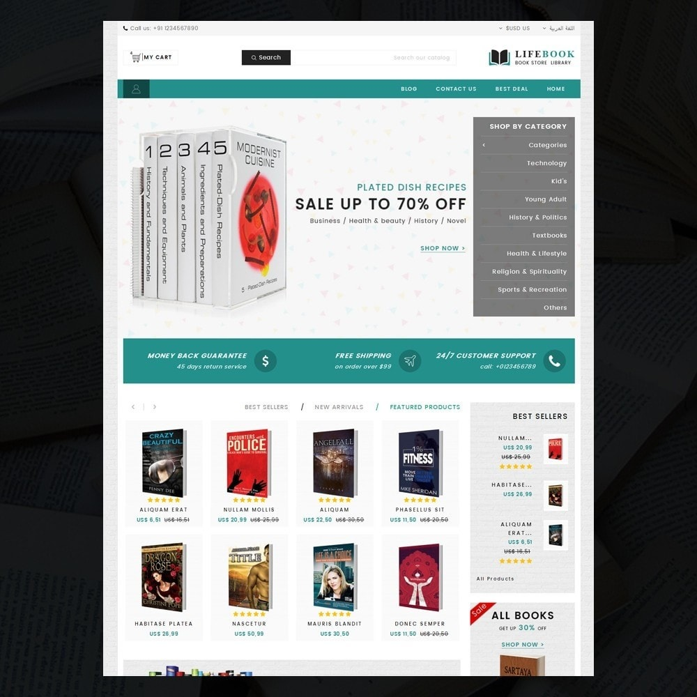 theme - Arte y Cultura - Books Store - 9