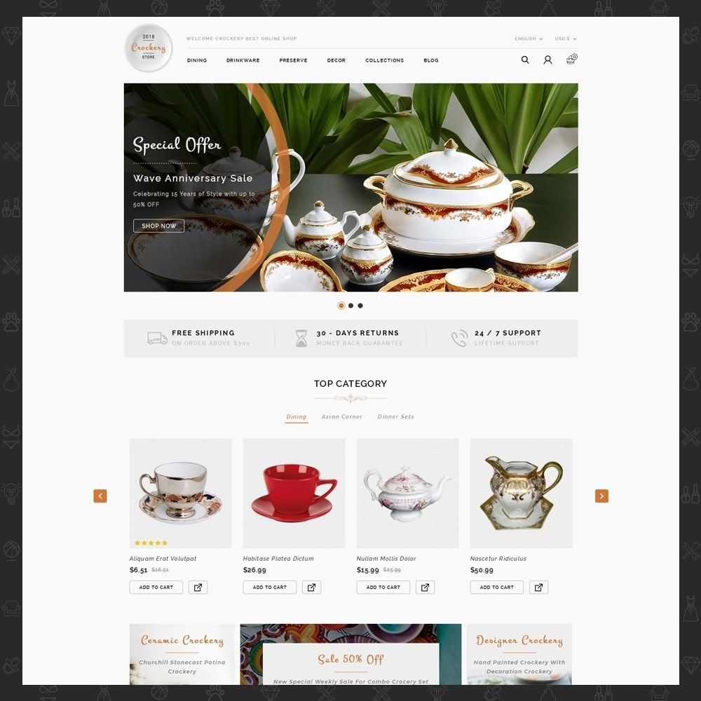 theme - Home & Garden - Kitchen Crockery Store - 2
