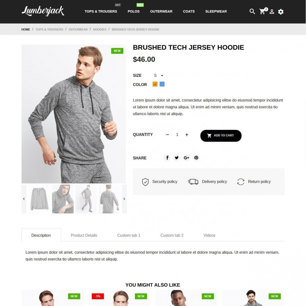 theme - Mode & Schuhe - Lumberjack Men's Wear - 6