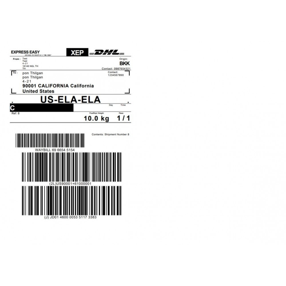 module - Подготовка и отправка - DHL Express Shipping Module with Print Label - 3
