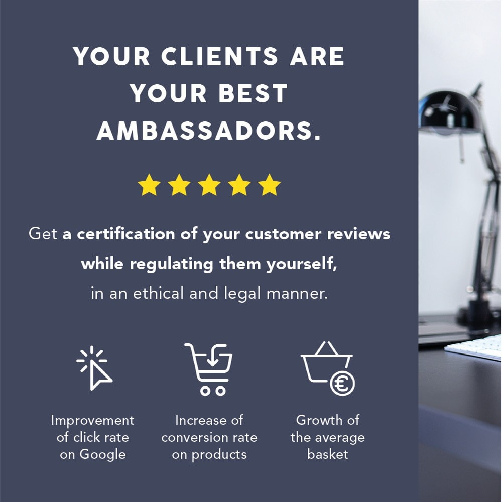 module - Recensioni clienti - Guaranteed Reviews Company, shop and product ratings - 1